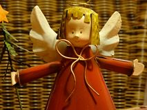 Friendly christmas angel. Angel as a christmas decoration royalty free stock photos
