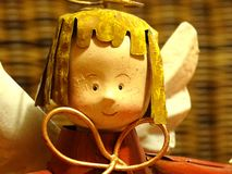 Friendly christmas angel. Angel as a christmas decoration royalty free stock images