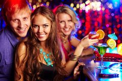 Friendly clubbers Stock Images