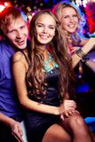 Friendly clubbers Stock Photo