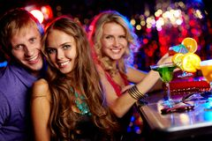 Friendly clubbers Stock Photos