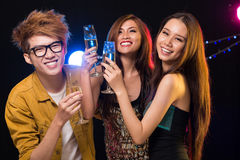 Friendly clubbing Stock Photos