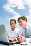 Friendly colleagues Royalty Free Stock Image