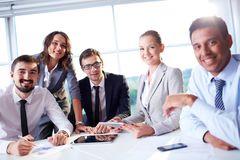 Friendly colleagues Stock Photography