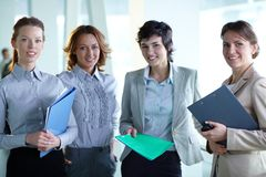 Friendly colleagues Stock Photo