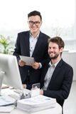 Friendly colleagues Royalty Free Stock Photos