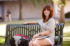 Friendly College Girl Stock Photography