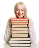 Friendly College student with books Stock Image