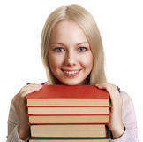 Friendly College student girl Royalty Free Stock Image