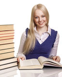 Friendly College student girl with books Royalty Free Stock Photo