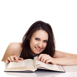 Friendly College student girl with books Royalty Free Stock Photos