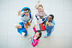 Friendly college students Stock Photography