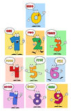 Friendly Comics Numbers Royalty Free Stock Photos