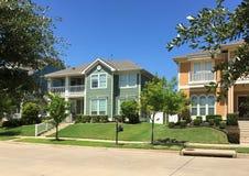 Friendly community in suburban. TX USA Royalty Free Stock Photography