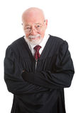 Friendly Competent Judge. Portrait of a friendly, competent judge, isolated on white Stock Photography