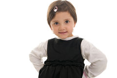 Friendly and confident cute little girl Royalty Free Stock Image