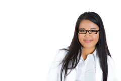 Friendly confident female doctor Stock Image
