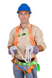 Friendly construction worker Royalty Free Stock Image