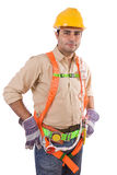 Friendly construction worker Stock Image