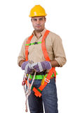 Friendly construction worker Royalty Free Stock Photography