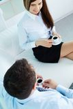 Friendly conversation Stock Photo