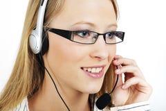 Friendly Customer Representative Royalty Free Stock Photos