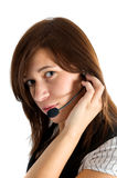 Friendly customer service agent Stock Photo