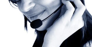 Friendly customer service agent Royalty Free Stock Image