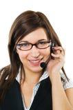 Friendly customer service agent Stock Photos