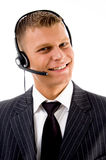 Friendly customer service communicating Royalty Free Stock Photography