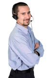 Friendly customer service guy Stock Image