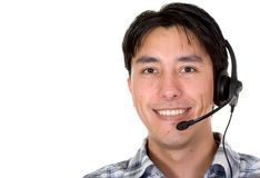 Friendly customer service man Stock Image