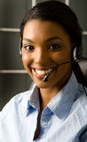 Friendly customer service rep. Happy and friendly customer service representative Royalty Free Stock Photography