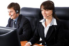 Friendly customer service team Royalty Free Stock Photos