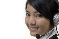 Friendly customer service woman Royalty Free Stock Images