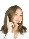 Friendly customer services - sales representative Stock Photo