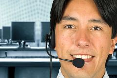 Friendly customer services team Stock Image