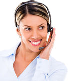 Friendly customer support operator Stock Photography