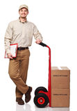 Friendly delivery man Royalty Free Stock Photography