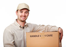 Friendly delivery man Stock Photography