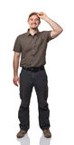 Friendly delivery man Royalty Free Stock Image