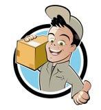 Friendly deliveryman royalty free illustration