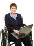 Friendly Disabled Businesswoman Royalty Free Stock Photography