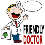 Friendly Doctor Holding Medical Kit Stock Photos