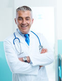 Friendly doctor at hospital Royalty Free Stock Photography