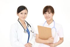Asian medical doctor and nurse royalty free stock photo