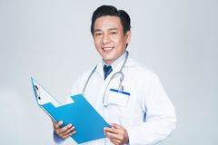 Friendly doctor Stock Images