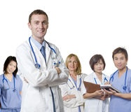 Friendly Doctor team Stock Image