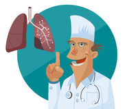 Friendly Doctor therapist flat cartoon character. Royalty Free Stock Photos
