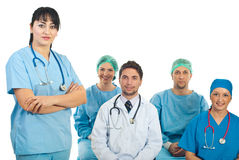 Friendly doctor woman in fornt of class Stock Images
